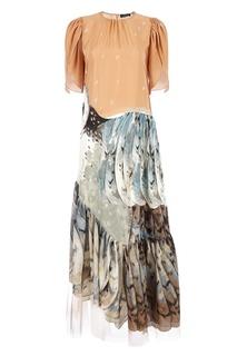 Комбинированное длинное платье Alena Akhmadullina