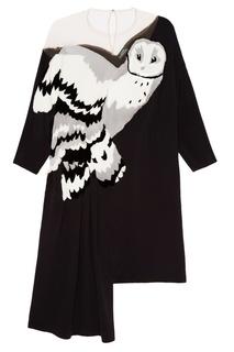 Платье с меховой аппликацией Alena Akhmadullina