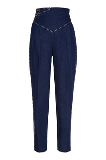 Джинсовые брюки с заклепками Alena Akhmadullina