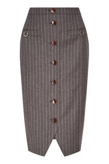 Серая юбка с пуговицами Altuzarra