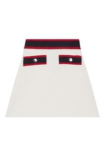 Белая юбка с контрастной отделкой Maje