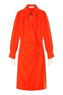 Оранжевое платье с длинными рукавами Altuzarra