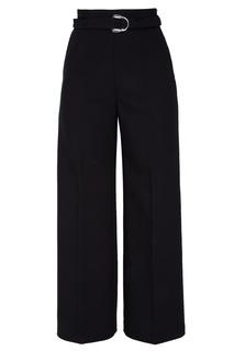 Черные расклешенные брюки Maje