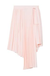 Розовая плиссированная юбка Maje