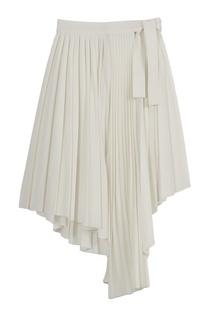 Белая плиссированная юбка Maje