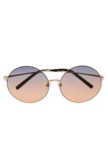 Солнцезащитные очки в тонкой оправе Linda Farrow