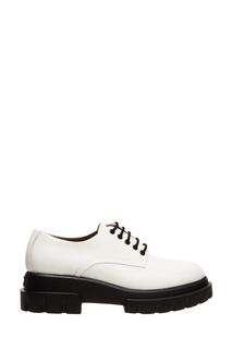 Белые ботинки на шнуровке AGL