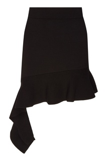 Черная юбка с оборкой Mo&Co