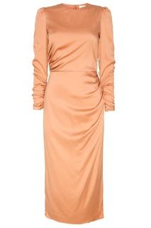 Розовое платье из шелка Zimmermann