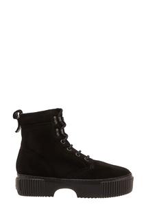 Черные ботинки на шнуровке AGL