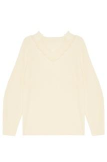 Белый пуловер с кружевной отделкой Mo&Co