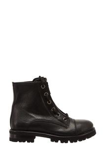 Черные ботинки на молнии AGL