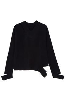 Черный пуловер из шерсти Mo&Co