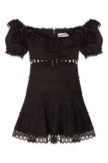 Короткое черное платье Zimmermann