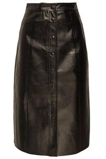Черная юбка на пуговицах Mo&Co