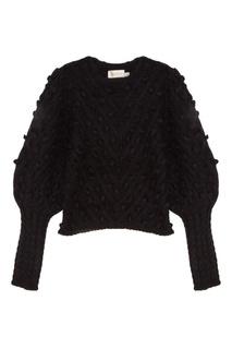 Черный свитер с объемной отделкой Zimmermann