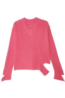 Розовый пуловер из шерсти Mo&Co
