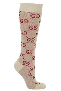 Высокие носки с принтом Gucci