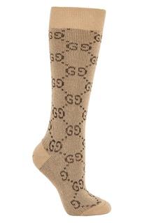 Высокие носки с металлизированной нитью Gucci