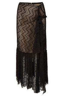 Асимметричная юбка с контрастной отделкой Roland Mouret