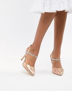 Туфли на каблуке с отделкой Coast Iris - Золотой