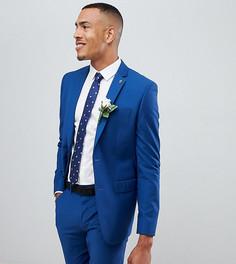 Синий приталенный пиджак Farah - Синий