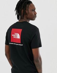 Черная футболка с принтом The North Face - Черный