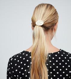 Резинка для волос с золотистым украшением DesignB - Золотой