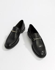 Кожаные лоферы Vagabond - Черный