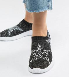 Кроссовки для широкой стопы с декоративной отделкой ASOS DESIGN Dizzy - Черный