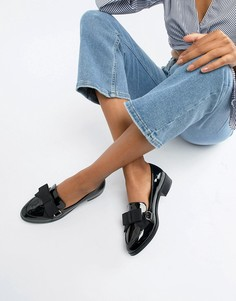 Туфли на плоской подошве с бантиками ASOS DESIGN Montie - Черный