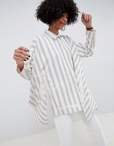 Oversize-рубашка в полоску ASOS WHITE - Мульти