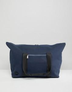 Темно-синяя парусиновая сумка Mi-Pac - Темно-синий