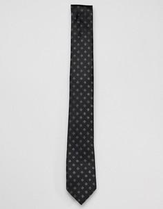 Галстук узором штриховки Harry Brown - Черный