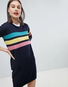 Платье-джемпер с 3 полосками Esprit Rainbow - Серый