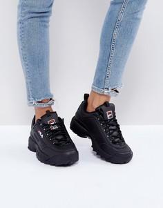 Черные кроссовки Fila Disruptor - Черный