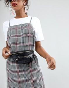 Черная сумка-кошелек на пояс с эффектом крокодиловой кожи Skinnydip - Черный