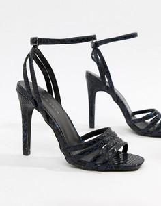 Босоножки на каблуке New Look - Темно-синий