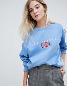 Свободный свитшот с вышивкой Daisy Street - Синий
