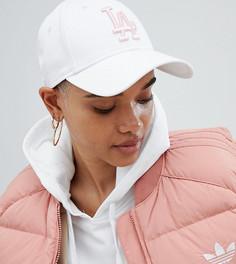 Бело-розовая кепка с логотипом New Era 9Forty - Кремовый