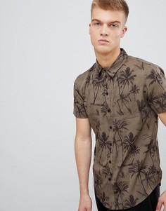 Рубашка с принтом пальм Another Influence - Коричневый