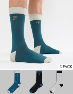 Набор из 3 пар носков Farah Derby - Зеленый