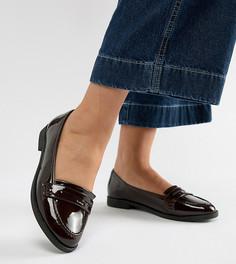 Туфли на плоской подошве для широкой стопы ASOS DESIGN - Красный
