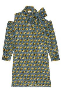Платье с открытыми плечами Fendi