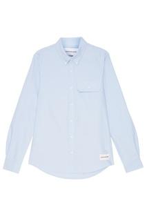 Голубая рубашка с воротником на пуговицах Calvin Klein
