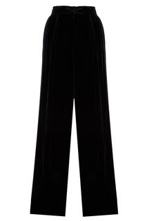 Черные бархатные брюки Fendi