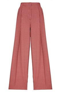 Шерстяные брюки в клетку Fendi