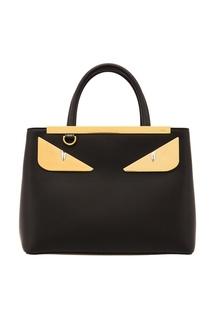 Черная сумка с аппликацией Fendi