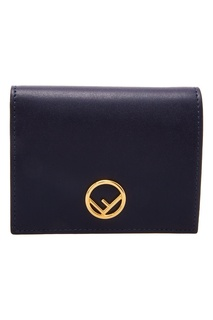 Синий кошелек с логотипом Fendi