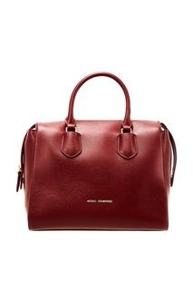 Красная сумка с короткими ручками Adolfo Dominguez